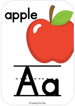 Alphabet Line Primary Print: White, Bright and Modern!