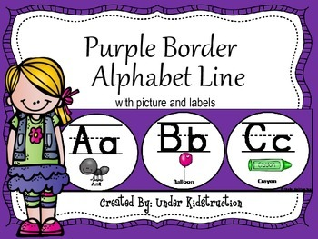 Alphabet Line; Purple Border Alphabet Line Upper/lowercase