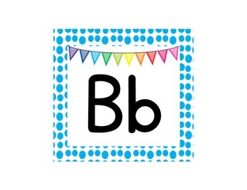 Alphabet Line - Rainbow Dots Border
