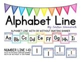 Alphabet Line - Rainbow Dots Border