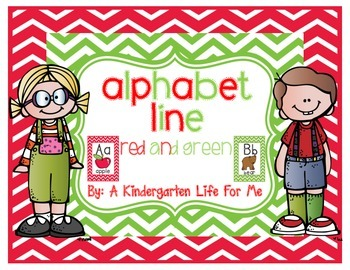 Alphabet Line - Red and Green Style