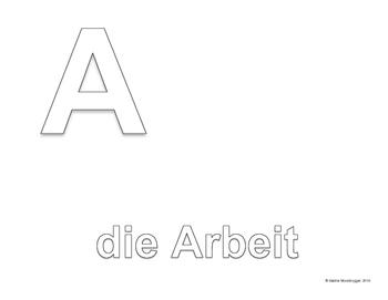 Alphabet Line: School Supplies