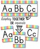 Alphabet Line - Soft Rainbow Vertical Stripes