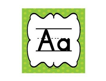Alphabet Line (Word Wall Headers) & Interactive Word Wall Writing Book