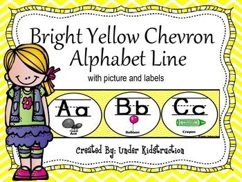 Alphabet Line; Yellow Chevron Classroom Alphabet Line