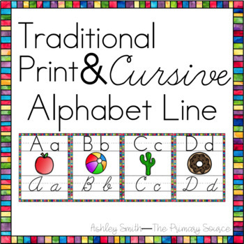 Alphabet Line in Print and Cursive