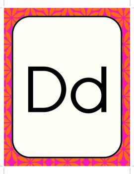 Alphabet Line with Orange Background