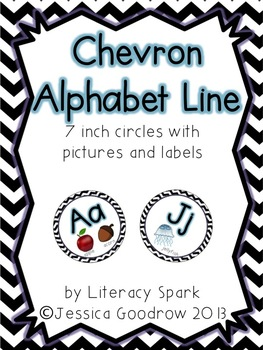 Alphabet Line with Pictures {Circles - Chevron}