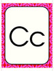 Alphabet Line with Pink Background
