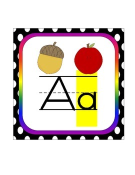 Alphabet Line with lowercase letters highlighted