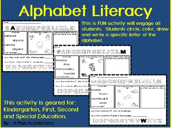 Alphabet Literacy Morning Starts
