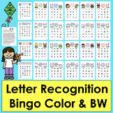 Letter Recognition: Alphabet Bingo!