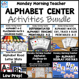 Alphabet Literacy Centers BUNDLE Playdoh Road Mats Colorin