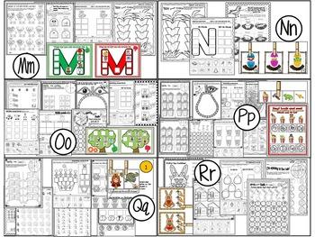 Alphabet Literacy Centers for the ENTIRE YEAR (Kindergarten)