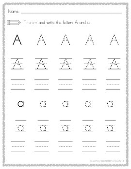 Alphabet Literacy Packets - Letter A *FREEBIE*
