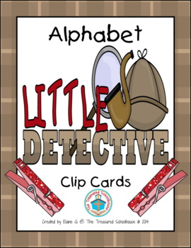Alphabet ABC Clip Cards - Detective