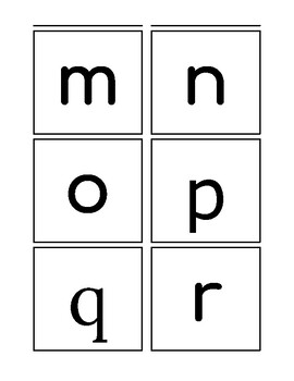 Simple Alphabet for Low Vision (Lower Case)