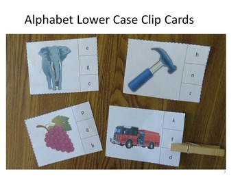 Alphabet Lower Case  Clip Cards Interactive Task Cards Literacy Centers