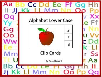 Alphabet Lower Case  Clip Cards Interactive Task Cards Lit