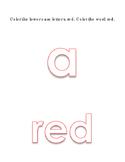 Alphabet Lower Case Letters a to z Coloring 11 Colors 26p Preschool Kindergarten