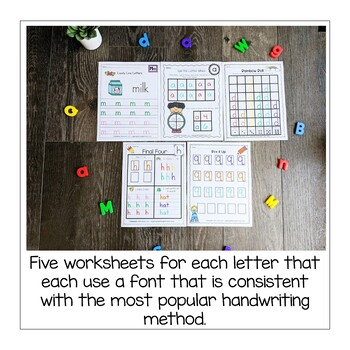 Alphabet Handwriting Practice Pages Bundle- Lowercase Letters