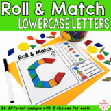 Alphabet Lowercase Letters Pattern Blocks Mat Roll and Match Game