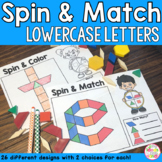 Alphabet Lowercase Letters Pattern Blocks Mat Spin and Match Game