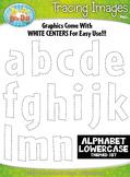 Alphabet Lowercase Letters Tracing Image Clipart {Zip-A-Dee-Doo-Dah Designs}