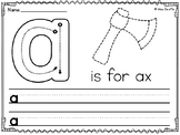 Alphabet Tracing Worksheets Lowercase Letters Writing Practice (Lower case)
