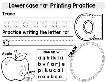 Alphabet Lowercase Print Packet