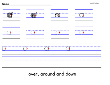 Alphabet Lowercase a-z Handwriting Worksheet Manuscript (Zaner-Bloser)