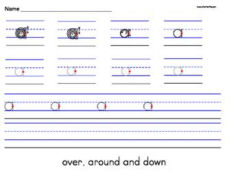 Alphabet Lowercase a-z Handwriting Worksheet Manuscript (Z