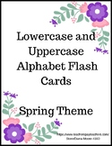 Alphabet (Lowercase and Uppercase) Flashcards - Spring Theme
