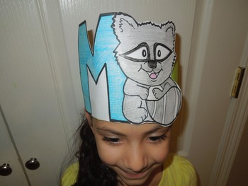 """Alphabet """"M is for Mapache"""" Spanish hat patterns (5 versions)"""