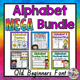 Alphabet MEGA Bundle QLD Beginners Font: Worksheets, Posters, Handwriting
