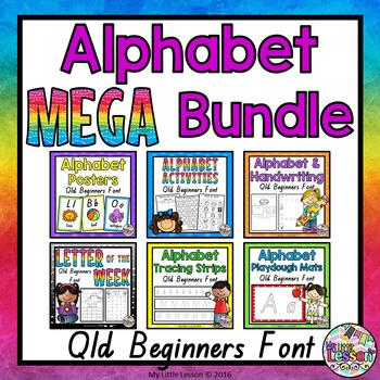 Alphabet MEGA Bundle - Qld Beginners Font