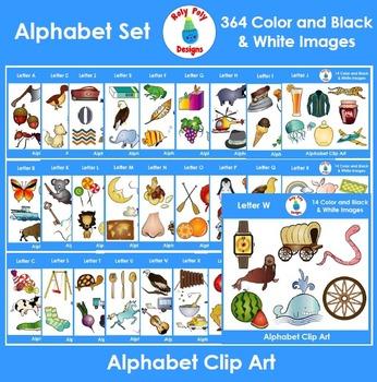 Alphabet MEGA Phonics Bundle 364 Image Clip Art Set