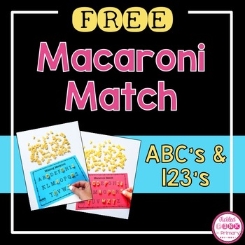 FREE Alphabet & Number Macaroni Match