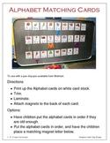 Alphabet Magnet Cards