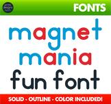 Alphabet Magnet Font • KTD Magnet Mania
