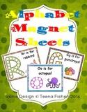 Alphabet Magnet Sheets Letter Recognition Toddler Preschool