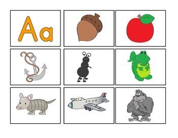 Alphabet Magnify Picture Mats