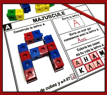 Alphabet - Majuscules  - - - French alphabet activities