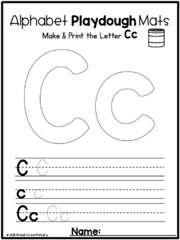 Alphabet Playdough Mats  | Distance Learning