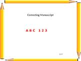 Alphabet Manuscript Correction