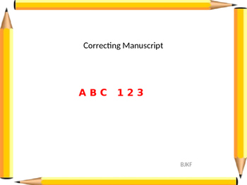 Alphabet Manuscript Correction