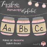 Alphabet Manuscript Mason Jars Light Pink (Editable)