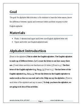 Alphabet Mat Activities