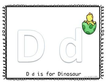 Alphabet Mat: D is for Dinosaur