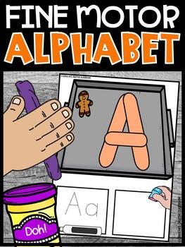 Alphabet Mat Gingerbread Theme | Alphabet Playdoh Stampers | Gingerbread Theme